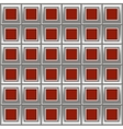 Silver red background with squares vector image vector image
