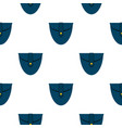 small blue pocket pattern flat vector image vector image