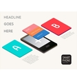 Smartphone infographics elements vector image