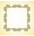 square frame of oak leaves vector image vector image