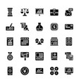 startup and new business glyph icons vector image vector image