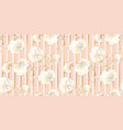 tender pale gold and rosy flower seamless pattern vector image vector image