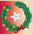 texas laurel leaf and star vector image vector image