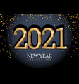text design 2021 vector image vector image