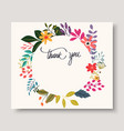 vintage flowers greeting card vector image vector image