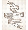 Vintage hand-drawn ribbon banner vector image