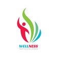 wellness - business logo concept vector image vector image
