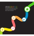 info graphic path with different colors and vector image