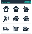Set of modern icons House home selling vector image
