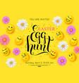 easter egg hunt flyer invitation vector image