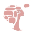 Female head with frames infographic concept vector image