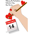 A love letter for Valentines Day vector image vector image