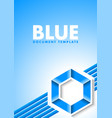 abstract blue document template with lines and vector image vector image
