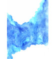 abstract grunge blue watercolor hand vector image