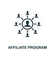 affiliate program icon simple element from