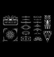 art deco elements set vector image vector image