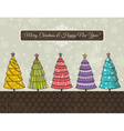 background with forest of christmas trees vector image vector image