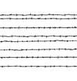 barbed wire vector image vector image