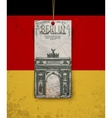 Berlin arch symbol Hand drawn pencil sketch vector image vector image