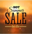 Big sale poster with different element vector image