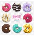 bitten donuts bakery sweet vector image vector image