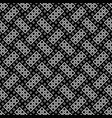 black and white seamless square pattern background vector image vector image