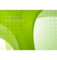 Bright green waves template vector image vector image