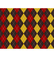 Brown red yellow argyle texture seamless pattern vector image vector image