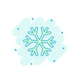 cartoon colored snowflake icon in comic style vector image vector image