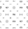 cinema icons pattern seamless white background vector image vector image
