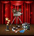 cinema realistic background vector image vector image