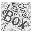 clear plastic boxes Word Cloud Concept vector image vector image