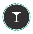 cocktail computer symbol vector image vector image