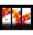Colorful Abstract Background Set vector image vector image