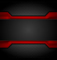 contrast red and black tech design on dark vector image vector image
