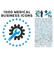 Customization Icon with 1000 Medical Business vector image vector image