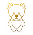cute teddy bear toy adorable icon vector image