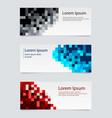 design banner background set horizontal vector image vector image