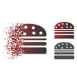 disappearing dotted halftone hamburger icon vector image vector image