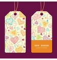 doodle hearts heart silhouette pattern frame vector image vector image