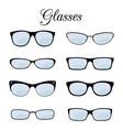 fashion glasses set isolated on white vector image