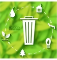 flat eco leaf banners concept design vector image