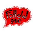 Follow me lettering composition for social network vector image vector image