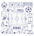 football dodle set vector image vector image