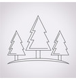 forest tree icon vector image vector image