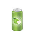 green apple juice can vector image vector image