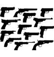 guns silhouettes collection vector image