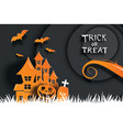 halloween party invitations and greeting cards vector image vector image