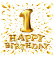 happy birthday one first maiden top premier vector image vector image