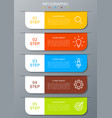 infographic modern with five options step vector image